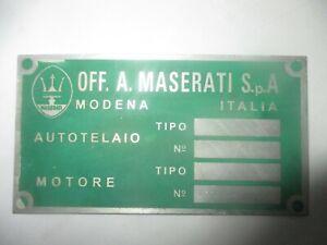 Maserati Shield Mexico Merak Mistral Sebring 3500 Bora Nameplate Green S61