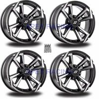 "(4) Sedona Riot Wheels Rims 12"" 4 Wheel Kit Yamaha 350 Bruin 2x4/4x4 '04-06"