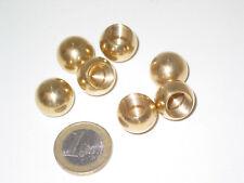 2 boules en laiton diamètre 16 mm , raccord de fin de lustre suspension, Lot de