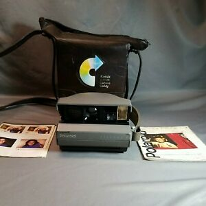 VTG Polaroid Spectra 2 Camera With Hand Strap & Case work last time years ago