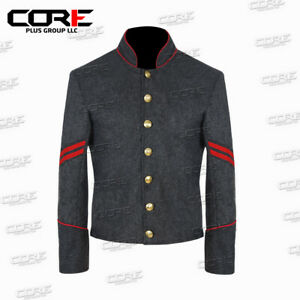 Civil War Confederate Artillery Corporal with red trim Shell Jacket - All Sizes
