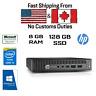 HP ProDesk 600 G1 USFF Tiny, i5-4590T, 8GB RAM, 128GB SSD, HDMI, DVI, Win10Pro