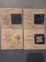LABEL ZIG ZAG - SCHUMANN, BACH, ENESCO, RAVEL, JANACEK - 4 CDS  NEW SEALED