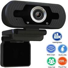 HD Webcam 1080P with Microphone, PC Laptop Desktop Android TV USB Webcams