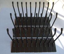 "30 Slatwall PEGHOOKS 6"" Long Black Powder Coat Metal 45 Degree Tip Store Display"