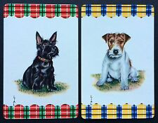 Pair of Vintage Swap/Playing Cards - CUTE TERRIER DOGS BY LIAL - Mint Cond