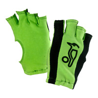 Kookaburra Cricket Fingerless Bat Gloves Green Cotton Batting Gloves Inners