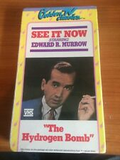 See It Now: The Hydrogen Bomb (VHS) Edward R. Murrow...RARE, OOP...43