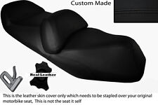 BLACK STITCH CUSTOM FITS HONDA FJS 600 SILVERWING DUAL LEATHER SEAT COVER