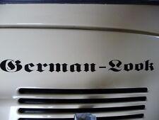 German Look Sticker Decal for VW Volkswagen Beetle Bus Kafer Cox 1303 1302 Renn