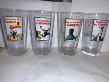 More details for set of 4 genuine guinness glass oversized pint pot beer drinking stout bar