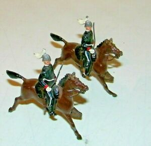 2 Vintage Britain's England Lead Soldiers Horse Figures Mounted The Life Guards