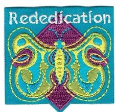 Girl REDEDICATION Butterfly Ceremony Fun Patches Crest Badge SCOUTS GUIDE night