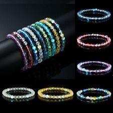 NEW Moonstone Quartz Healing Bead Bracelet Natural Stone Stretchy Bangle Jewelry