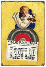 Reproduction Aged Fisk Balloon Tires Gas And Motor Oil Sign