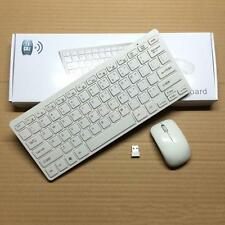 Funktastatur Funkmaus mini Tastatur Maus Set Wireless Drahtlos mini USB Weiß