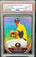 2013 Chrome REFRACTOR Yanks GERRIT COLE RC Card PSA 10 GEM Pop 2 - ONLY 10 MADE!