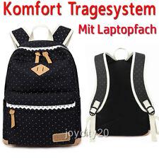 19L Rucksack mit Laptopfach Schulrucksack Canvas Damen Mädchen Sport Backpack