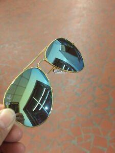 Ray ban sunglasses Men Gold Green Aviator Used