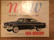 1954 MERCURY , MONTEREY, SUN VALLEY CANADIAN PRESTIGE SALES BROCHURE