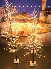 Albero di Natale LED luminoso ed innevato. 4 altezze. Albero led