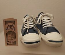 Converse Jack Purcell Classic Navy Blue Made in USA w/box Sz US 7,5 Vintage Rare