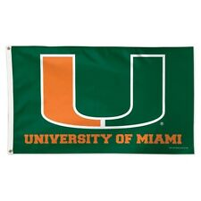 Miami Hurricanes Deluxe Flag 3 x 5