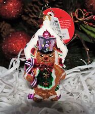 NEW RADKO SWEET GUARD Glass Christmas Ornament Gingerbread Boy Cookie Peppermint