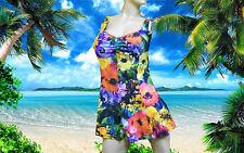 NWT GOTTEX Floral TANKINI SWIMDRESS with Bikini Bottom 2 pc BATHING SUIT sz - 16