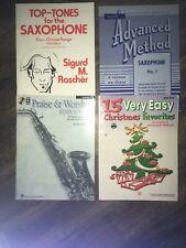 Rubank Advanced Method Saxophone, 15 Christmas Favorites, Praise And Worship +1