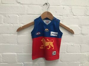 Brisbane Lions Majestic Aussie Rules AFL Infant Away Jersey - 0 Years - New