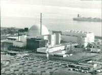 Brokdorf nuclear power plant on the Lower Elbe - Vintage photograph 3256035