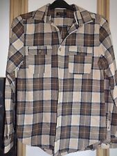 #R13 - Brown Check Long Sleeve Shirt From River Island - Size: Small
