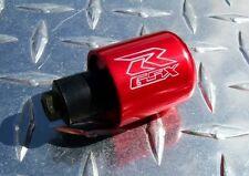 Suzuki GSX-R Engraved RED Bar Ends / Sliders GSXR 600 750 1000 1100