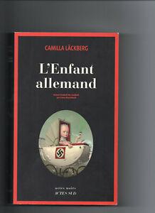 """Camilla LÄCKBERG """" L'enfant allemand """" 1 livre offert pour 4 achetés"""