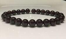 Mens Bracelet 925 Sterling silver & Garnet beads Custom fit