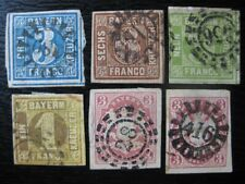 BAVARIA BAYERN GERMAN STATES valuable imperf stamp collection!