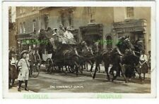 OLD POSTCARD THE VANDERBILT COACH REAL PHOTO VINTAGE USED NEW MALDON SURREY 1908