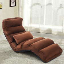 Folding Lazy Sofa Chair Stylish Sofa Couch Beds Lounge Chair W/Pillow Coffee