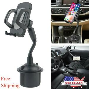 New Universal Adjustable Car Mount Gooseneck Cup Cradle Holder for Cell Phone #1