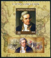 Madagascar 2018 CTO Captain James Cook 1v M/S Exploration Boat Ships Stamps