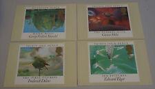 1985 año europeo de la Música Conjunto de 4 tarjetas PHQ 83 con sellos FDI/shs