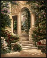 Watson's Garden II - DIY Chart Counted Cross Stitch Patterns Needlework DMC