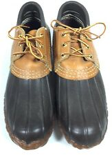 SAM Pair of Brown Bean Maine Hunting Shoes Boots 7N
