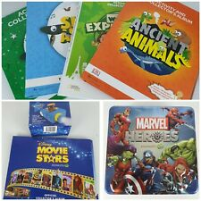 Woolworths Collectables Disney Movie Stars + Marvel Discs & Tin + Albums
