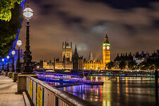 STUNNING LONDON CITYSCAPE CANVAS #376 QUALITY LONDON CITY CANVAS WALL ART A1