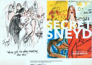Doug Sneyd Signed Original Art Playboy Gag Rough Sketch in Secret Sneyd ~ BRIDE