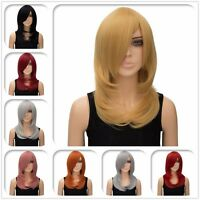 Sexy Women's 8colors Straight hair Wigs Ladies party Long thick bang Full Wig