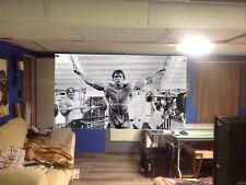 HUGE 47x26apx. Arnold Schwarzenegger VINYL BANNER POSTER pumping iron Movie art