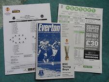 2014/15 - EVERTON v BSC YOUNG BOYS - EUROPA LEAGUE + Teamsheet + Matchday coupon